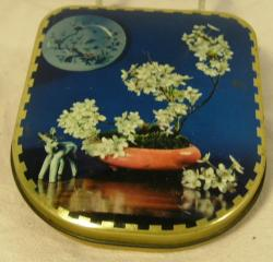 vintage 1960's sharpes floral confectionary  tin