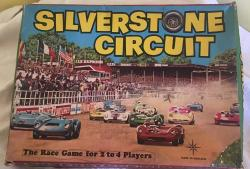 original 196Os Silverstone circuit motor racing  board game , complete
