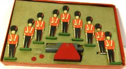 c1940's boxed toy cardboard soldier shooting game