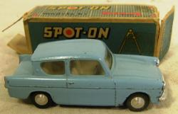 1960's triang spot on ford anglia boxed