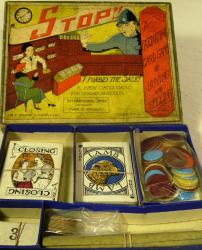 v. rare c 1920's gibson stop , i forbit the sale card game ( boxed)