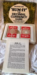1968 waddingtons sum -it decimal card game , unused