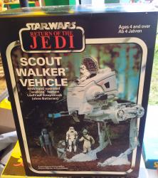 original 1983 star wars scout walker unopened
