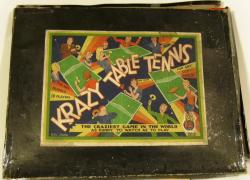 v. rare & unusual 1920's crazy table tennis set, complete