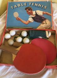1960s table tennis set