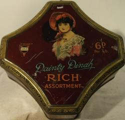 rare horner shop display dainty dinah assortment tin