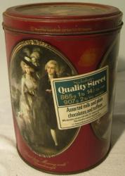 vintage mackintosh quality street national gallery chocolate  tin