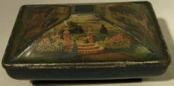 v. rare early lithographed rowntrees casket confectionary tin