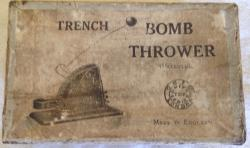 very very rare ww1 unity toys tin plate trench bomb thrower toy boxed