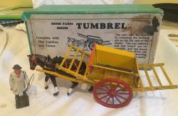 prewar Britains farm lead tumbrel boxed.
