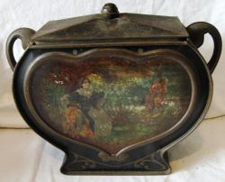 early unbranded victorian biscuit tin