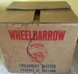 early trade box for wheelbarrow butter from holland