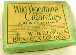 rare 1930's wills trade box 31 packets of 5 cigarettes