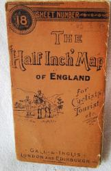 early gall & inglis half inch cyclists map wiltshire no 16