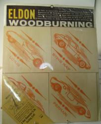 1970's unopened edlon woodburning 4 car wooden kit