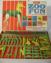 1961 merit plasticine  / plastic zoo fun set ( unused)