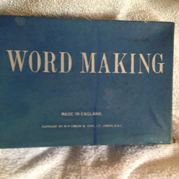 1910-20s gibsons word making game