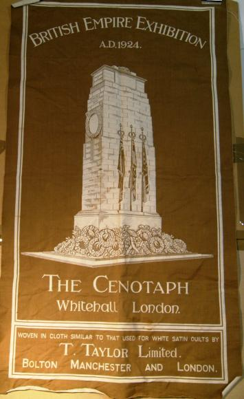 original large 1924 empire exhibition cloth tea towel