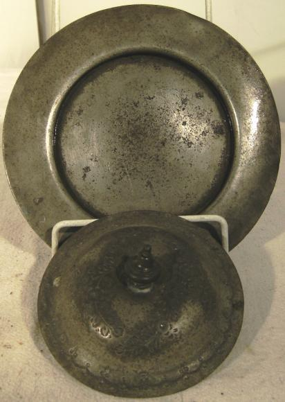 vintage hallmarked pewter ashtray and lid