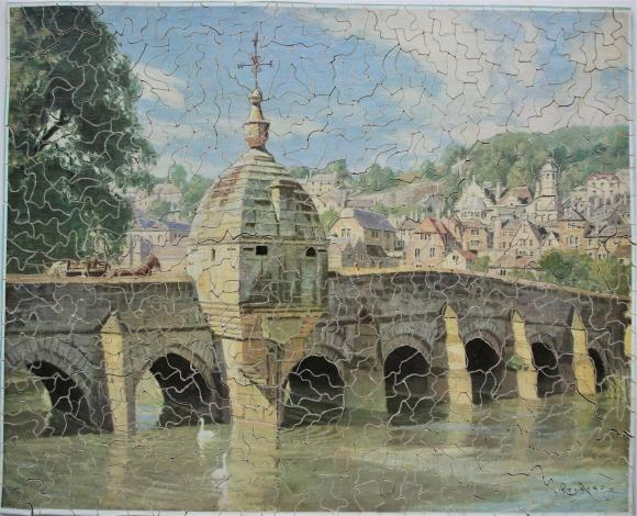 522p push fit miss Rutherford wooden jigsaw Bradford upon Avon complete.