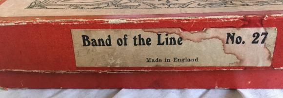 c1896 Britains types of world armies, band on the line no 27 boxed