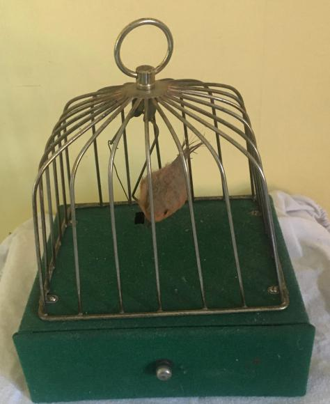 c1960s Japanese  bird in cage automaton working