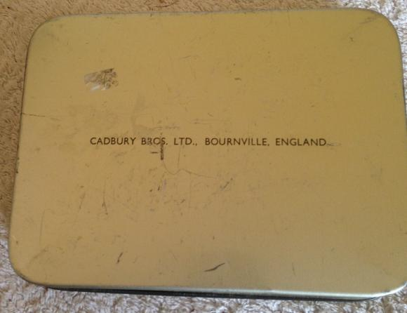 1953 cadburys coronation chocolate tin