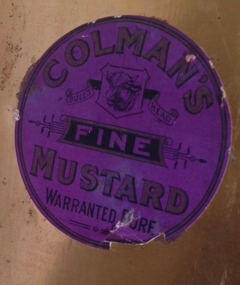 Edwardian large colmans mustard shop tin.