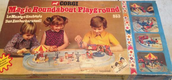 original vintage corgi magic roundabout set, complete