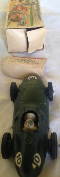 very rare crescent vanwall racing car ,boxed