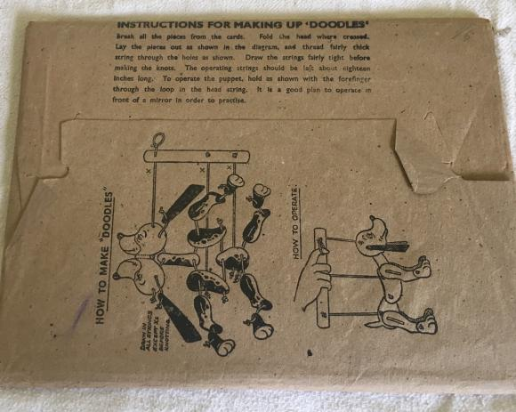 1930s doodles cardboard puppet construction toy