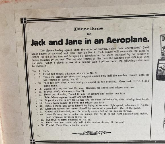 1950s spear games jack and Jane in an aeroplane board game