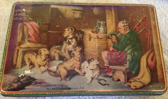 1950s jacobs highland music biscuit tin