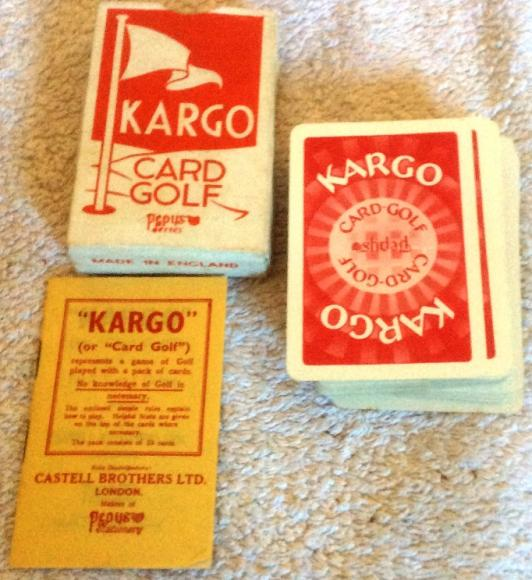1950s pepys kargo golf playing card game