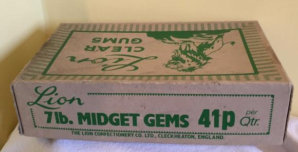1970s trade box lion midget gums