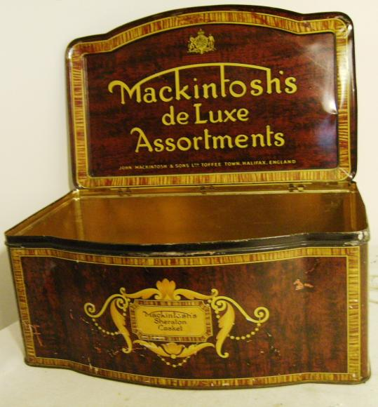 1920's mackintosh large shop assortment confectionary tin.