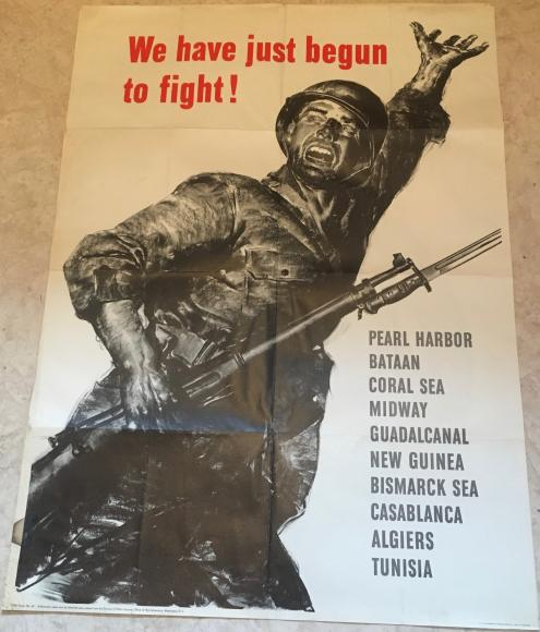VERY RARE STUNNING ORIGINAL WW2 USA RECRUITMENT POSTER 1943 MARINES