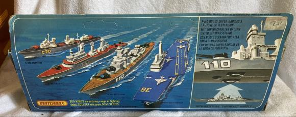1975 lesney matchbox sea kings aircraft carrier boxed K304