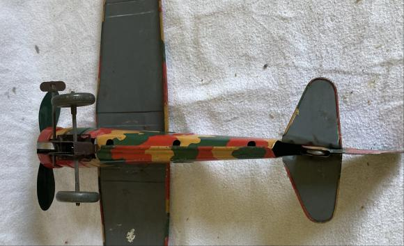 1950s Mettoy large c/w tin plate plane
