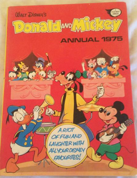 1975 walt Disney Donald and Mickey annual