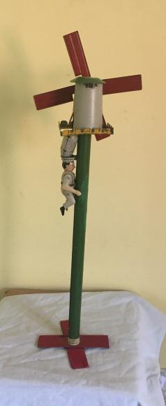 pre war Lehmann tin plate climbing Gustav miller toy working