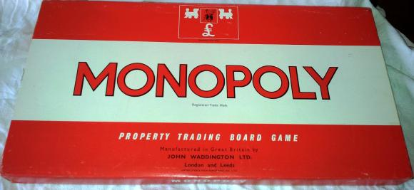 classic 1960's  boxed edition waddingtons monopoly