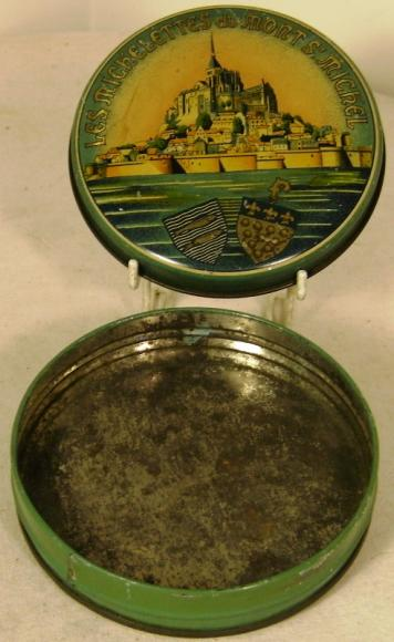 1960's mont st michel confectionary tin
