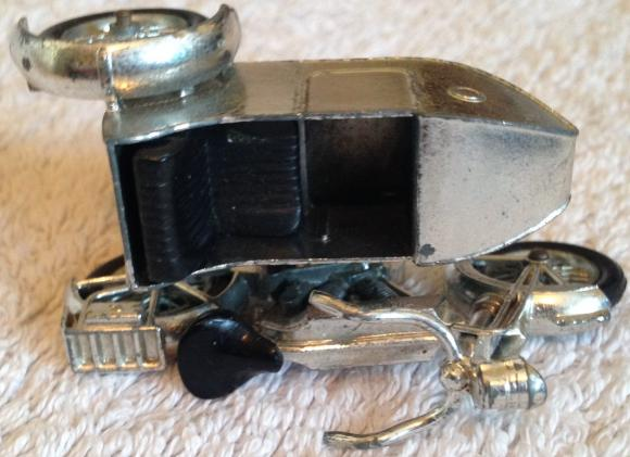 v. rare lesney matchbox  moy y-8 1914 sunbeam motor cycle with black seats