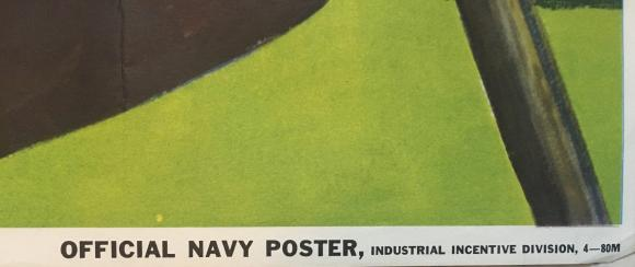 stunning original ww2 1943 usa recruitment poster navy Howard Scott