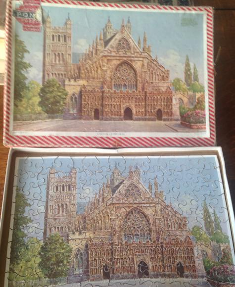 1950s ponda 150 piece wooden jigsaw exeter catherdral