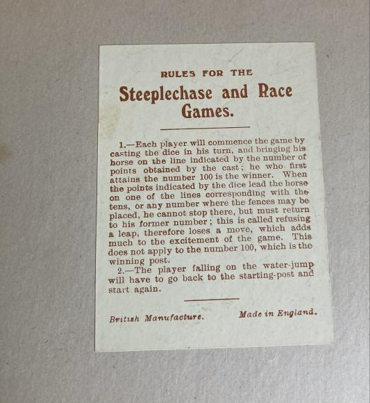 1930s horse racing race game, complete