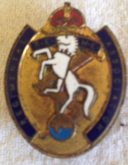 vintage regimental association enamel badge