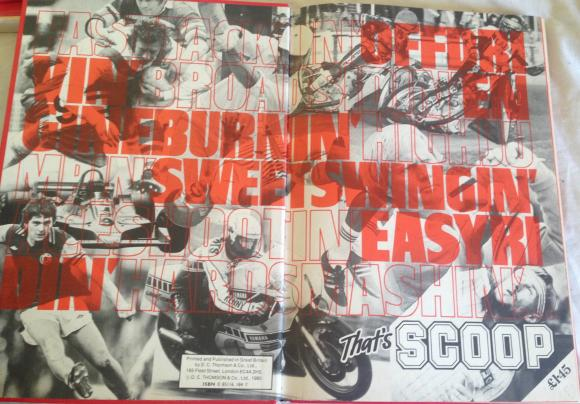 1981 scoop sports annual unclipped