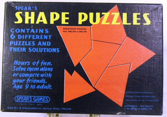 1970 spears shape puzzles set boxed